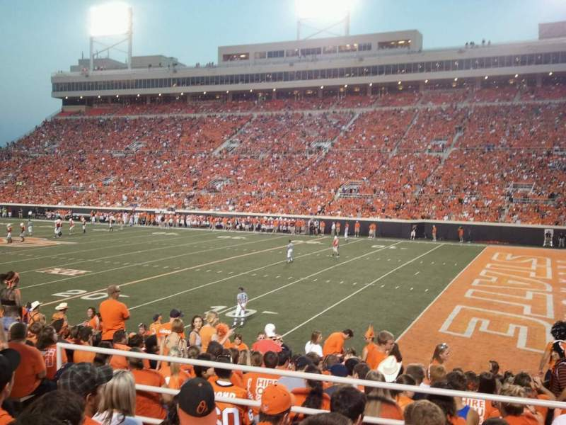 Seating view for Boone Pickens Stadium Section Student