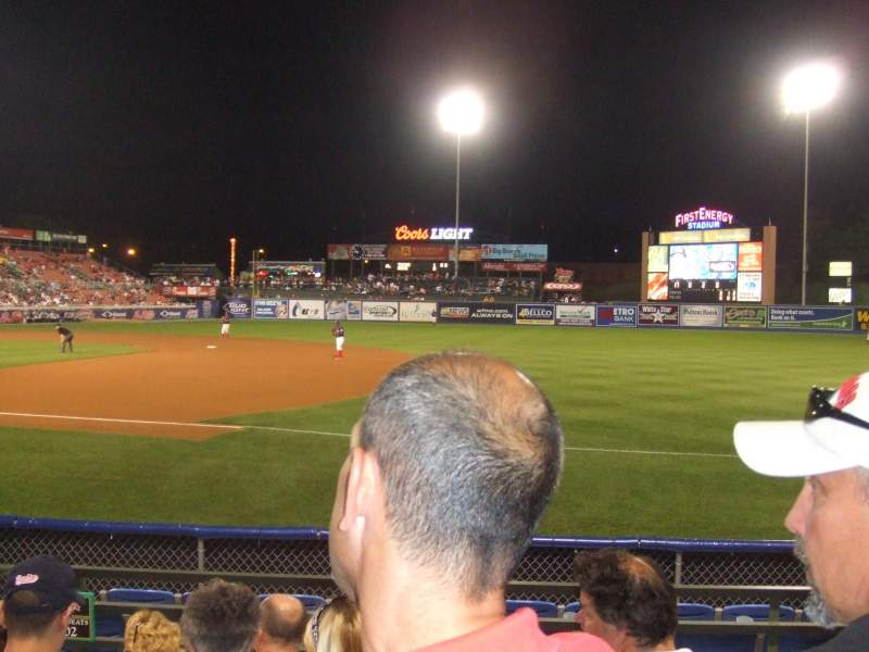 Seating view for FirstEnergy Stadium (Reading) Section green D Row 5 Seat 1