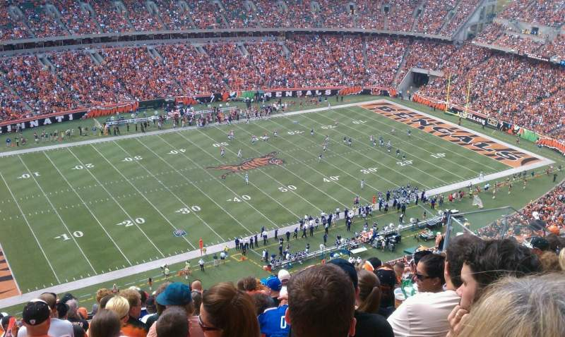 Seating view for Paul Brown Stadium Section 344 Row 14 Seat 1