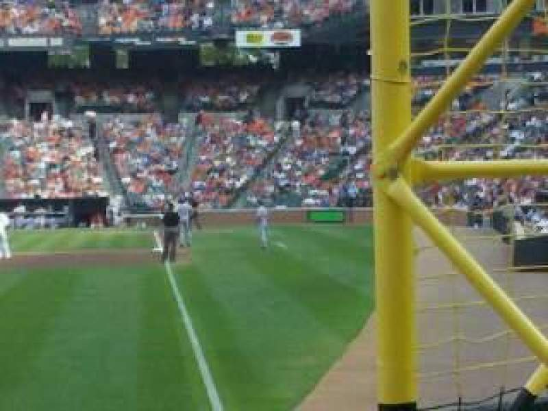 Seating view for Oriole Park at Camden Yards Section 74 Row 4 Seat 11