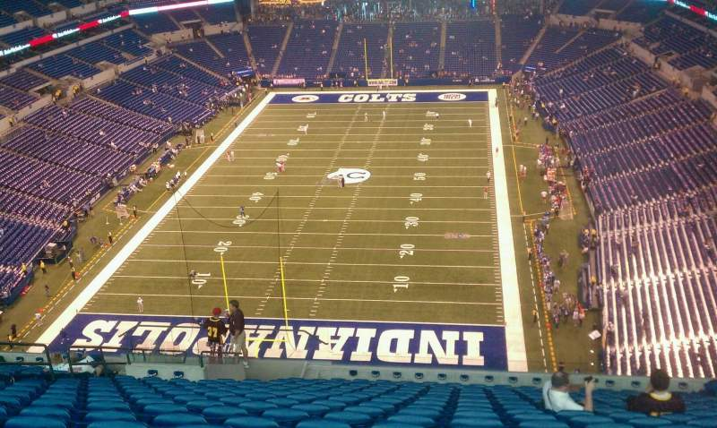 Seating view for Lucas Oil Stadium Section 625 Row 18 Seat 18