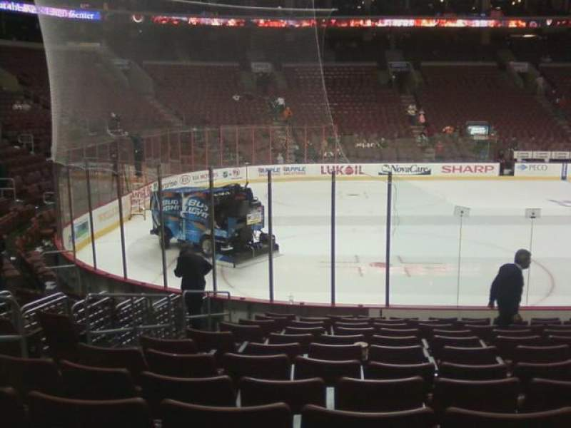 Seating view for Wells Fargo Center Section 111 Row 12 Seat 6