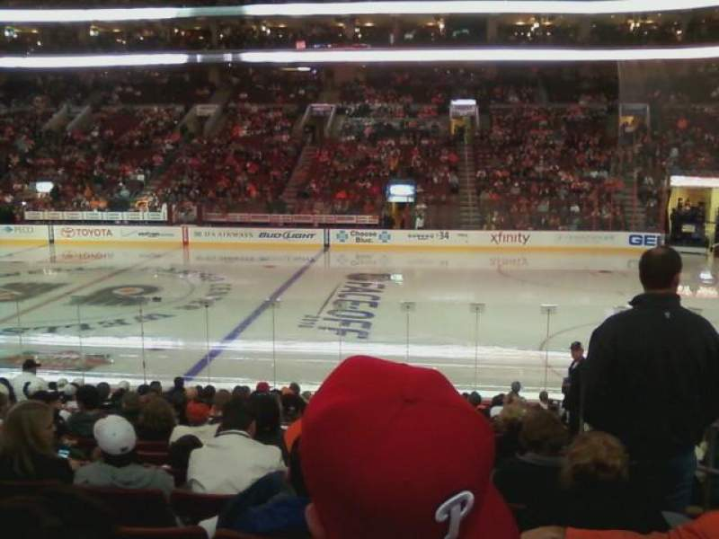 Seating view for Wells Fargo Center Section 114 Row 15 Seat 18