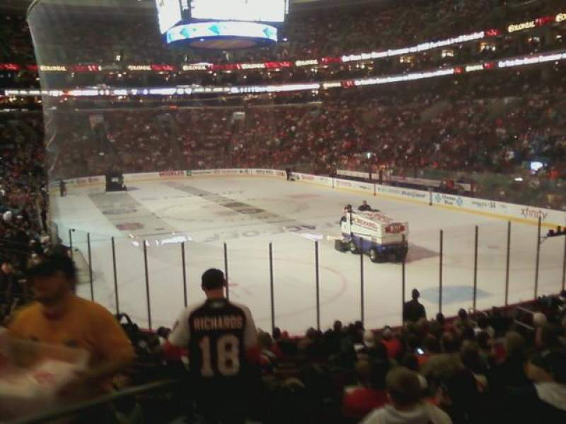 Seating view for Wells Fargo Center Section 118 Row 17 Seat 1