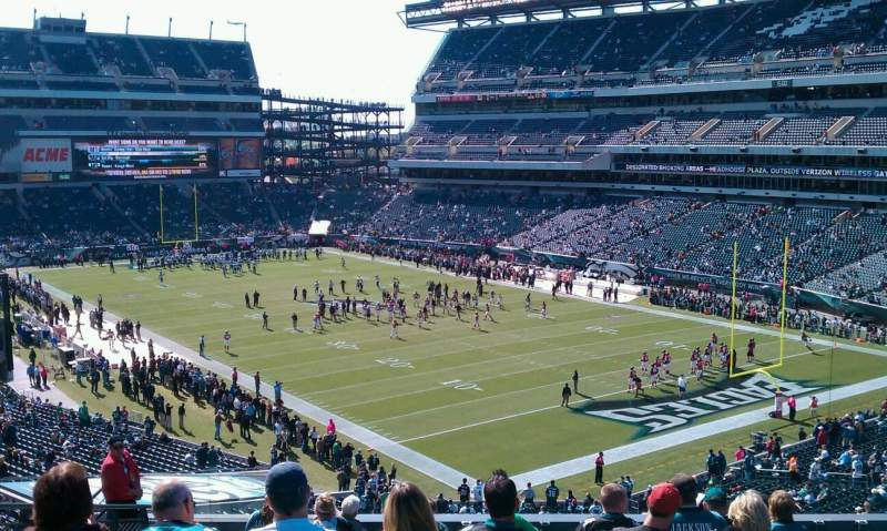 Seating view for Lincoln Financial Field Section Pepsi Row 14 Seat 27
