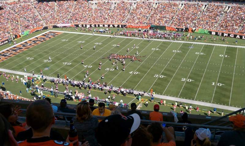 Seating view for Paul Brown Stadium Section 307 Row 2 Seat 4