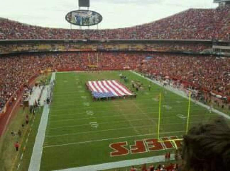 Seating view for Arrowhead Stadium Section 337 Row 2  Seat 12