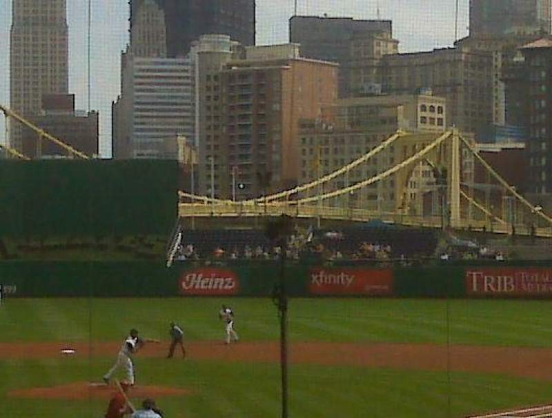 Seating view for PNC Park Section 117 Row 1 Seat 1