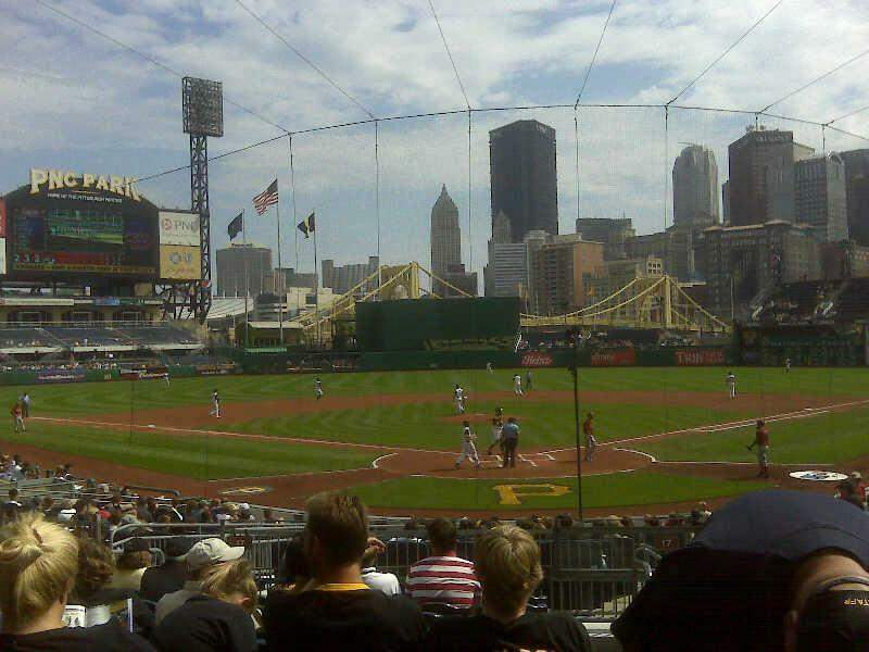 Seating view for PNC Park Section 117 Row 1 Seat 2