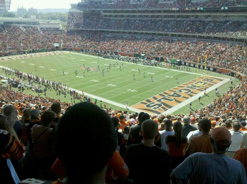 Seating view for Paul Brown Stadium Section E Row 22 Seat 5