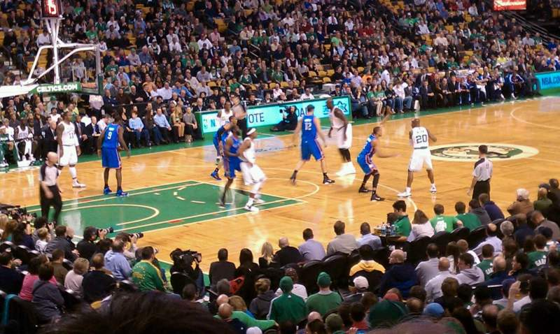 Seating view for TD Garden Section Loge 15 Row 15 Seat 4
