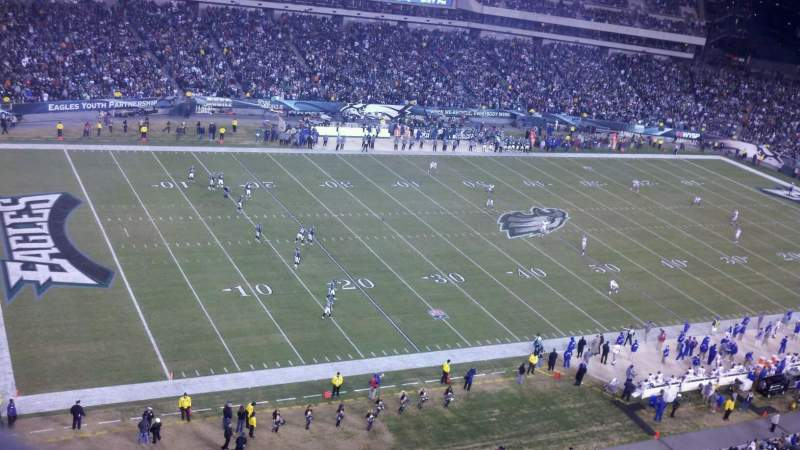 Seating view for Lincoln Financial Field Section 220 Row 2 Seat 1