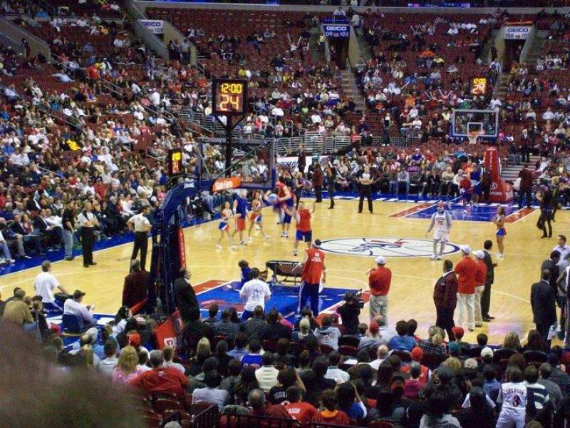 Seating view for Wells Fargo Center Section 120 Row 12