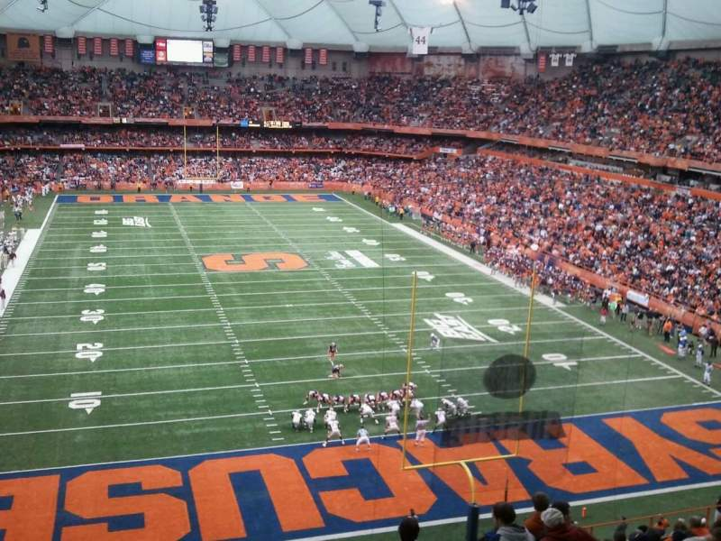 Seating view for Carrier Dome Section 300