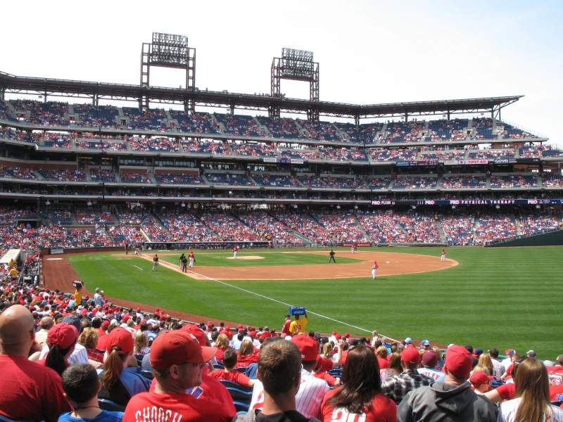 Seating view for Citizens Bank Park Section 109 Row 28 Seat 3