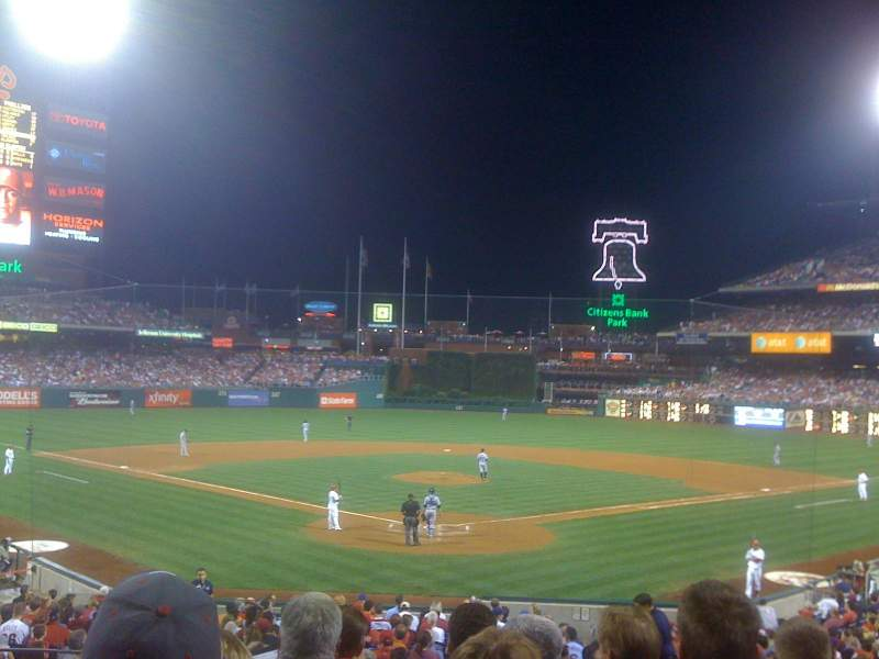 Seating view for Citizens Bank Park Section 124