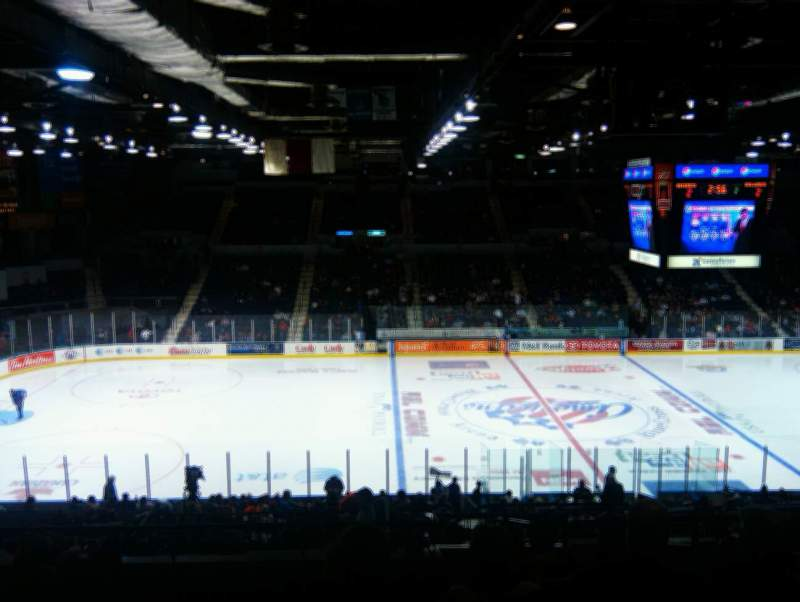 Seating view for Blue Cross Arena Section 205  Row L Seat 4