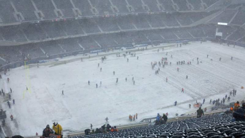 Seating view for Soldier Field Section 442 Row 32 Seat 1