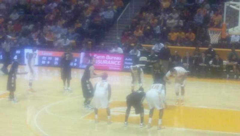 Seating view for Thompson-Boling Arena Section 119 Row 12 Seat 9
