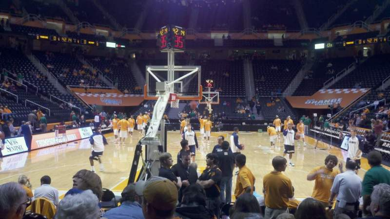 Seating view for Thompson-Boling Arena Section 129 Row 2 Seat 5