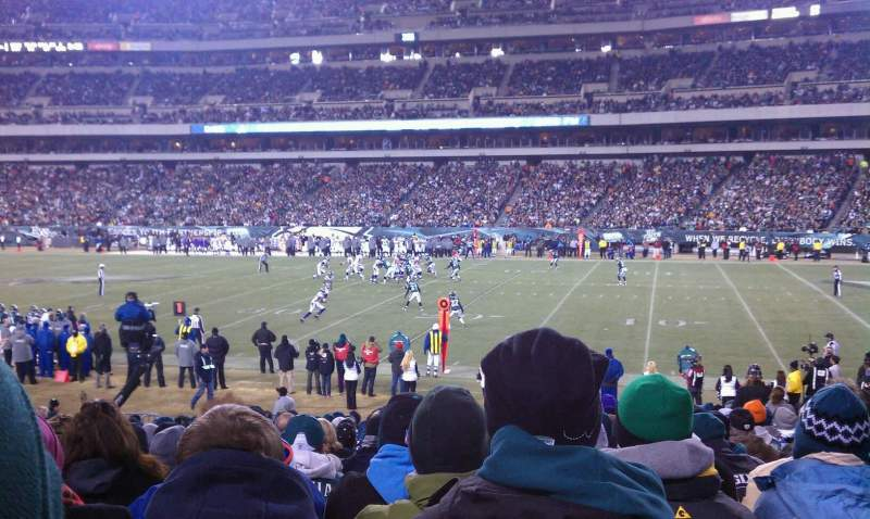 Seating view for Lincoln Financial Field Section 104 Row 19 Seat 9