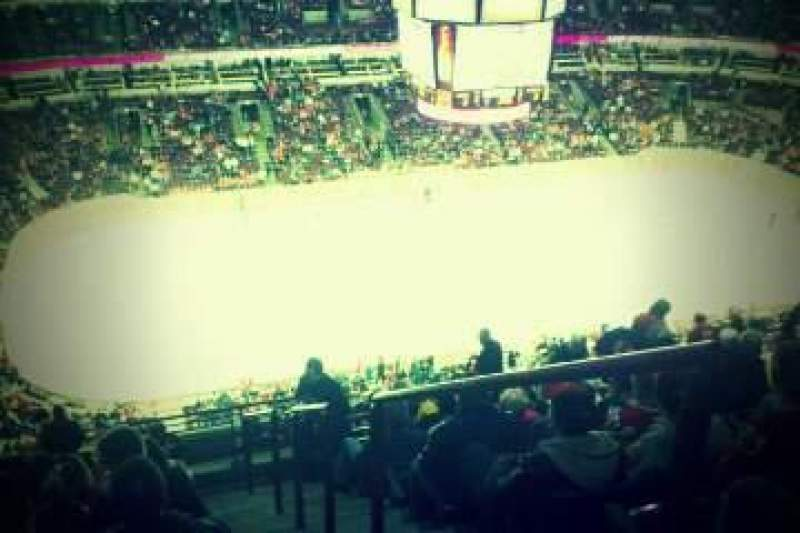 Seating view for United Center Section SRO