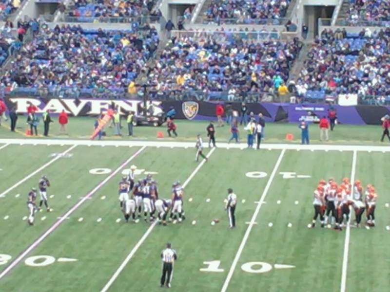 Seating view for M&T Bank Stadium Section 150 Row 42 Seat 21