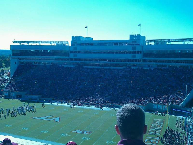 Seating view for Lane Stadium Section 21
