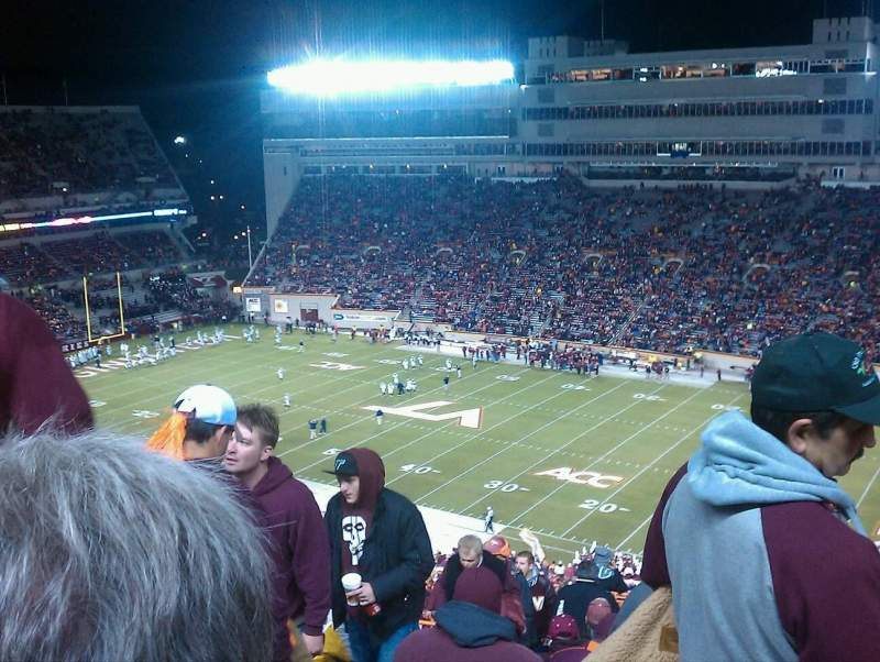 Seating view for Lane Stadium Section 23