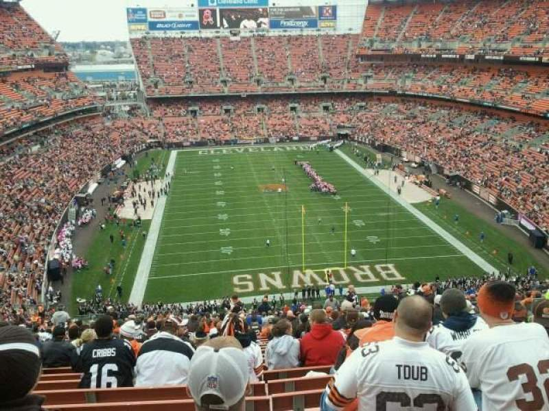 Seating view for FirstEnergy Stadium Section 319 Row 39 Seat 14