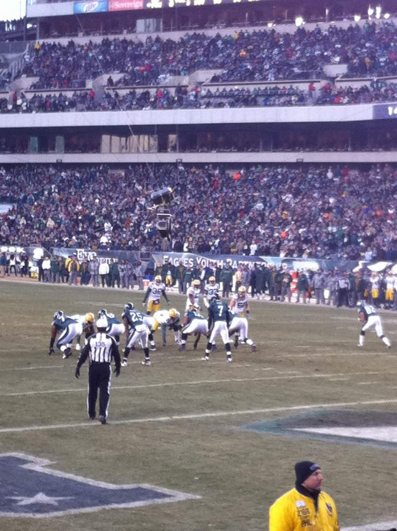 Seating view for Lincoln Financial Field Section 108 Row 6