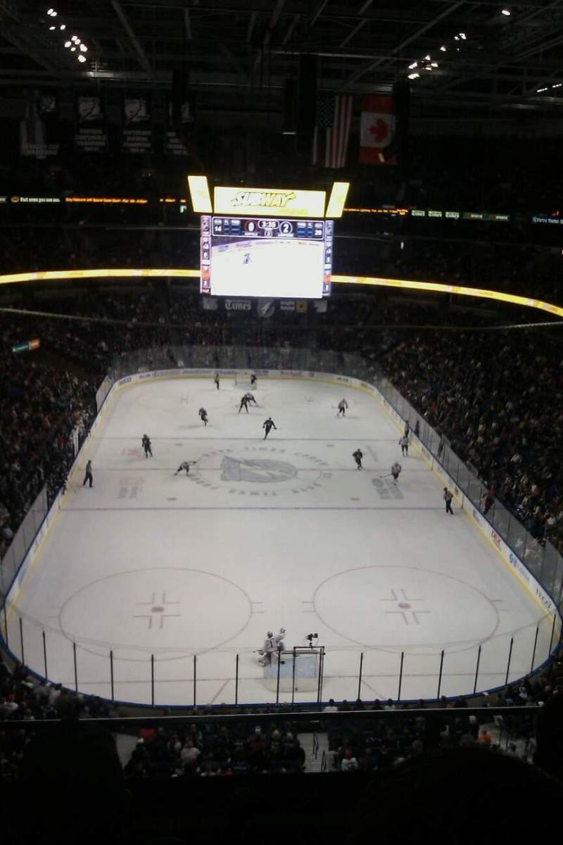 Seating view for Amalie Arena Section 324 Row C Seat 4