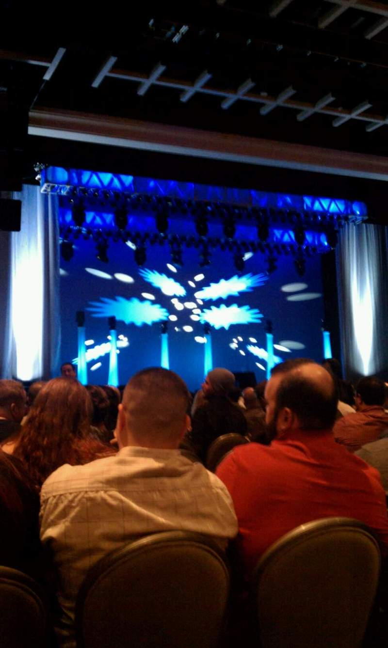 Seating view for Borgata Event Center Section 200 Row 18 Seat 2