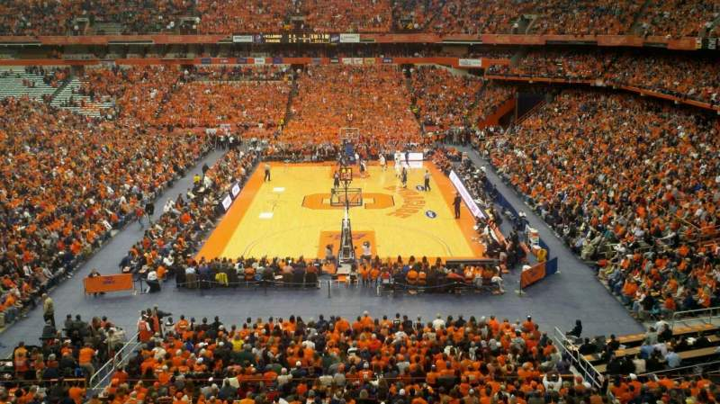 Seating view for Carrier Dome Section 316 Row B Seat 13