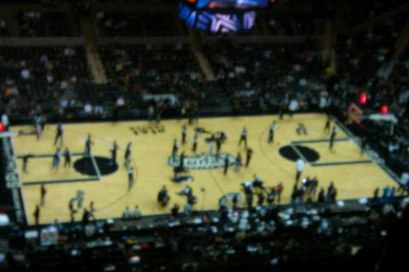 Seating view for AT&T Center Section 210 Row 20 Seat 6