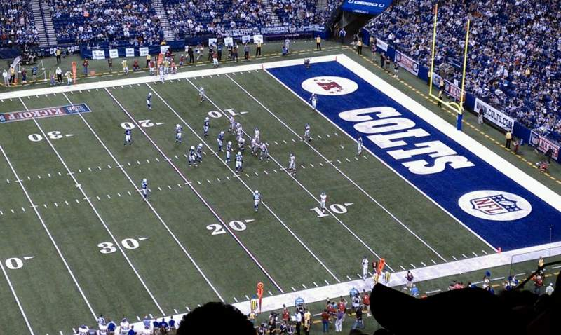 Seating view for Lucas Oil Stadium Section 613 Row 17 Seat 21