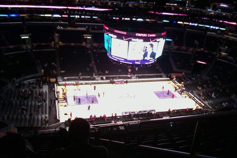 Seating view for Staples Center Section 303 Row 15 Seat 3