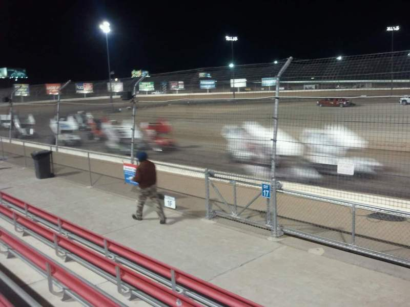 Seating view for Las Vegas Dirt Track Section front Row 18 Seat 24
