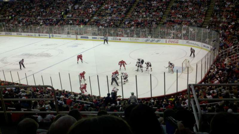Seating view for Joe Louis Arena Section 218b Row 6 Seat 2