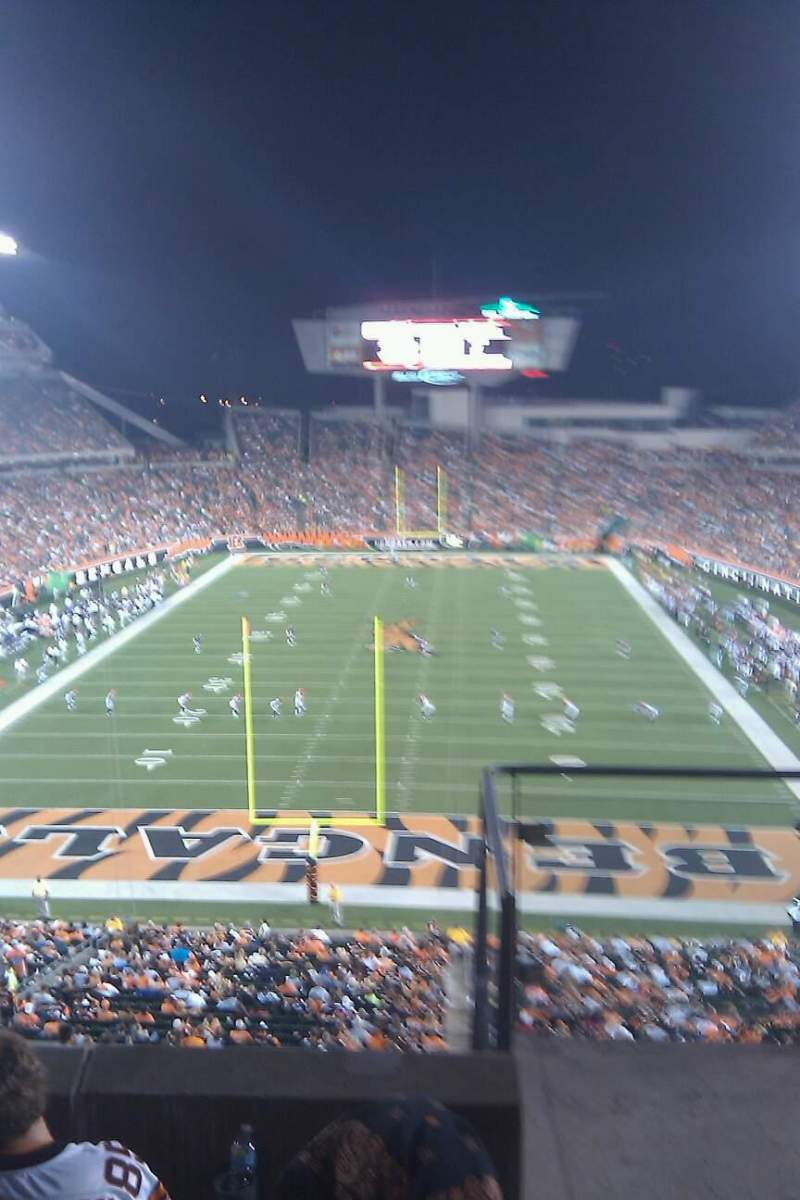 Seating view for Paul Brown Stadium Section 226