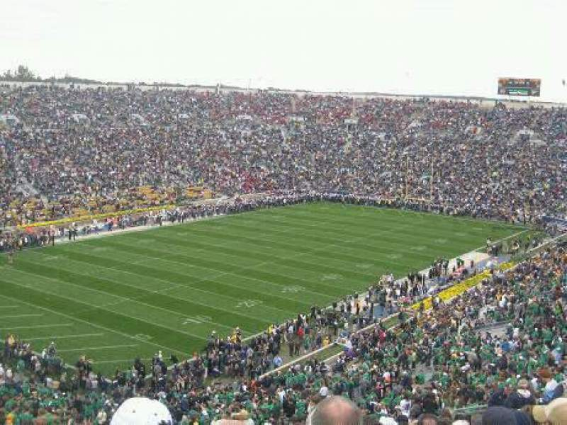 Seating view for Notre Dame Stadium Section 133 Row 25 Seat 9