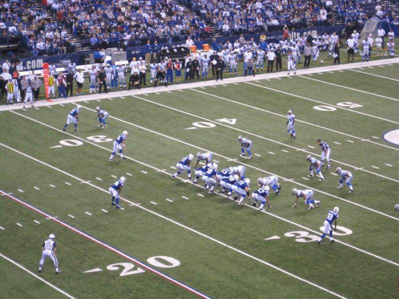 Seating view for Lucas Oil Stadium Section 345 Row 5w Seat 2