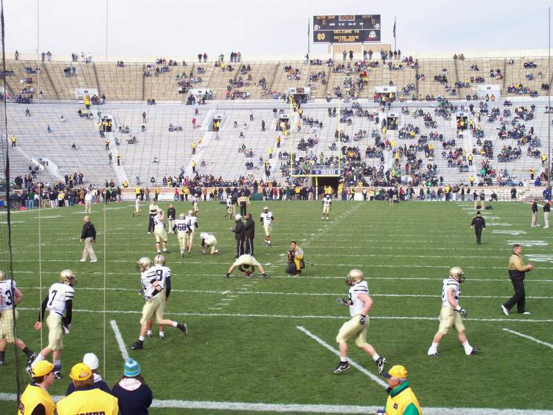 Seating view for Notre Dame Stadium Section 18 Row 13 Seat 5