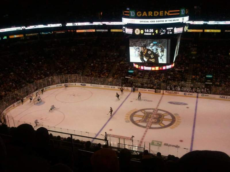 Seating view for TD Garden Section Bal 315 Row 12 Seat 12