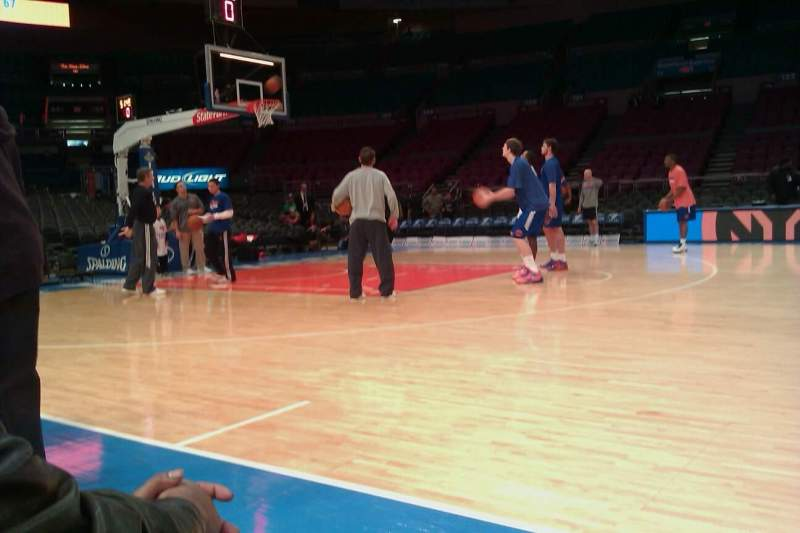 Seating view for Madison Square Garden Section 10 Row 2 Seat 5