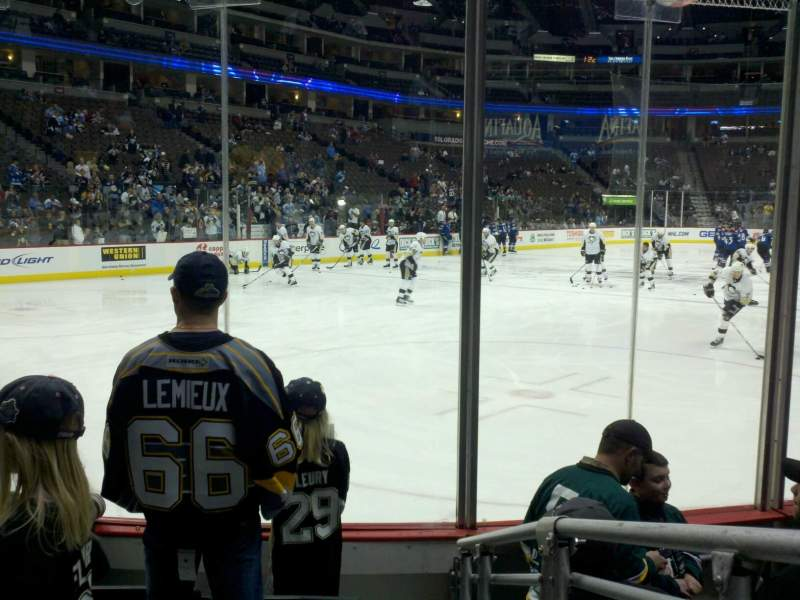 Seating view for Pepsi Center Section 132 Row 5 Seat 1