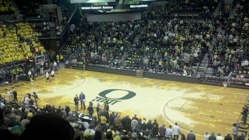 Seating view for Matthew Knight Arena Section 211