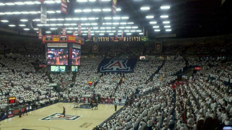 Seating view for Mckale Center Section MI 23