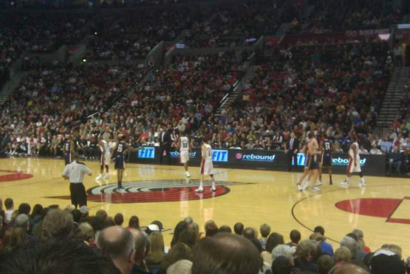 Seating view for Moda Center Section 111 Row G Seat 14