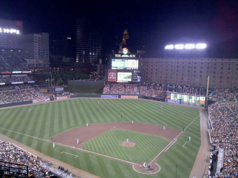 Seating view for Oriole Park at Camden Yards Section 342